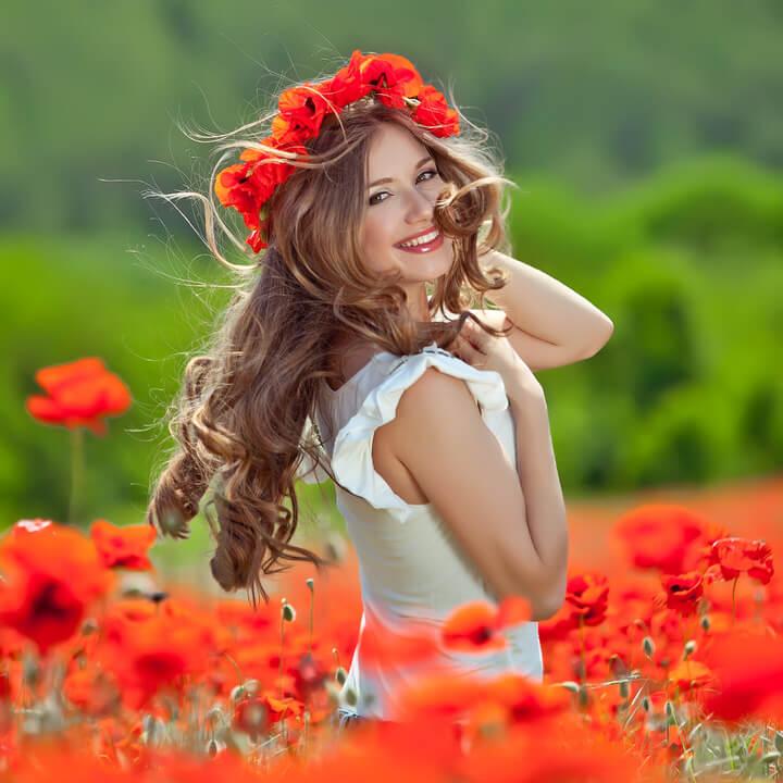 talento del fiore rosso